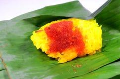 Sida för klibbig Rice för räka Arkivfoto