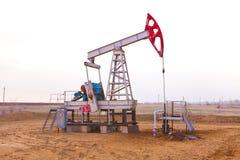 Sida för olje- pump Royaltyfria Bilder