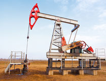 Sida för olje- pump Royaltyfria Foton