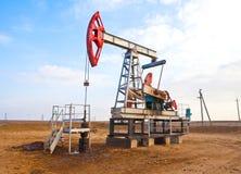 Sida för olje- pump Fotografering för Bildbyråer