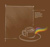 sida för orientering för symbol för kaffekopp Royaltyfri Fotografi
