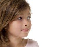 sida för profil för framsidaflickor nätt Royaltyfri Bild