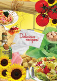 Sida för recept Arkivfoto
