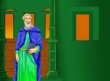 Sida för Santo santa kristen kalenderidé Arkivfoto