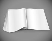 sida för tidskrift för designorientering Arkivbilder