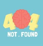 Sida fel för inte 404 hjärna Arkivfoto