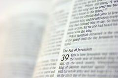 Sida från bibeln Royaltyfria Bilder