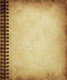 Sida från den gammala grungeanteckningsboken Royaltyfri Fotografi