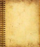 Sida från den gammala grungeanteckningsboken stock illustrationer