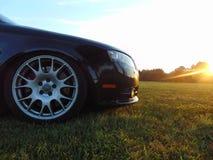 Sida Front View av Audi SR4 royaltyfri bild