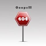 Sida inte funnen eps 10 för fel för design 404 för sida 404 Fotografering för Bildbyråer