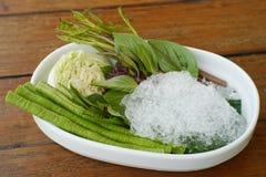 Sida-maträtt grönsak Royaltyfria Foton