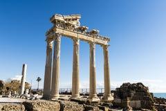 Sida tempel av Apollo, Turkiet Royaltyfri Fotografi
