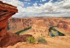 sida USA för anteckningsbok för man för arizona böjningshästsko arizona USA Royaltyfri Bild
