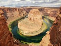 sida USA för anteckningsbok för man för arizona böjningshästsko arizona USA Arkivfoto