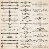 Sidaavdelar- och designbeståndsdelar Royaltyfri Bild