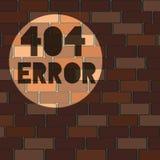 sidabakgrund för 404 fel för website Royaltyfri Fotografi