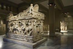 Sidamara Sarcophagus at Istanbul Archeology Museum, Turkey Stock Photo