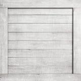 Sidan av vit skrapade träspjällådan, asken, väggen eller ramen Royaltyfri Foto