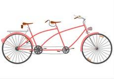 Retro tandemcykel. vektor illustrationer