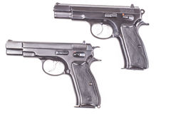 Två vapen Royaltyfria Bilder