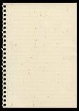 Sida från anteckningsboken arkivbilder