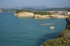 Sidari,科孚岛 库存图片