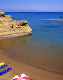 Sidari Bay. The Canal D'Amour in Sidari on the island of Corfu is an area of eroding sandstone cliffs that have formed several tiny sand and shingle coves stock image