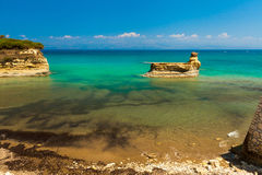 Sidari beach on Corfu (Kerkyra) island - Greece Royalty Free Stock Photography