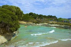 Sidari beaches, Corfu Royalty Free Stock Photos