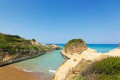 Sidari en Corfú, Grecia Imagen de archivo
