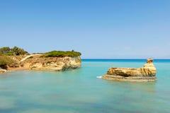 Sidari en Corfú, Grecia Fotos de archivo libres de regalías