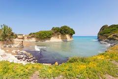 Sidari en Corfú, Grecia Fotografía de archivo libre de regalías