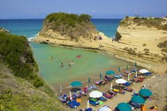 Sidari rocks and beaches, Corfu Royalty Free Stock Photography