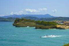 Sidari rocks and beaches, Corfu Royalty Free Stock Photos