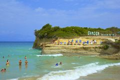 Sidari rocks and beaches, Corfu Royalty Free Stock Images