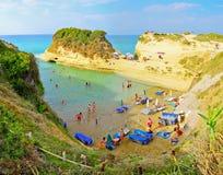 Sidaristrand, Korfu, Griekenland Royalty-vrije Stock Foto