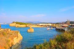 Sidaristrand, Korfu, Griekenland Stock Afbeeldingen