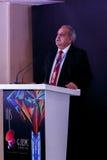 Siddharth che parla agli ospiti allo IIJS Inaugration 2015 Fotografie Stock