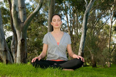 Siddhasana - Yoga Pose Stock Image