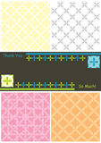 Side 4 Flowers 6 Seamless Pattern Thanks Card_eps Stock Photography