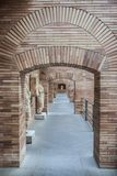 Side access corridor  of National Roman Art Museum in Merida, Sp. Merida, Spain - December 20th, 2017: National Roman Art Museum in Merida, Spain designed by Stock Photography