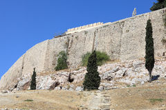 Side of Acropolis of Athens Royalty Free Stock Photo