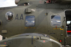Side of an AgustaWestland AW101 Merlin Helicopter Royalty Free Stock Images