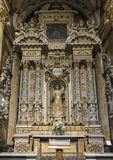 Side Altar of the Duomo Cathedral with Our Lady Queen of Peace, Lecce, Italy royalty free stock photo