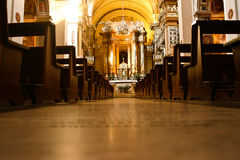 Side altar in St. Peter's Bascilica. Royalty Free Stock Images