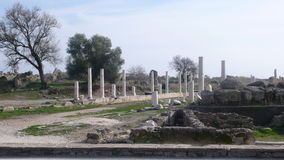 Side ancient apollon. Side Turkey ancient ruins Royalty Free Stock Photo
