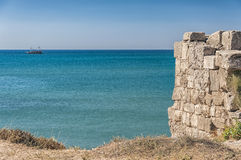 Side Ancient City Wall By The Sea Stock Image