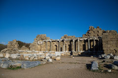 Side ancient Greek city ruins Stock Photography