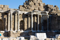 Side ancient Greek city ruins Stock Images